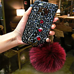 cheap -Case For Apple iPhone 6 Plus iPhone 7 Plus Rhinestone Pattern Back Cover Solid Colored Hard PC for iPhone 8 Plus iPhone 8 iPhone 7 Plus