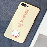cheap -Case For Apple iPhone X iPhone 7 Plus Pattern Back Cover Word / Phrase Hard PC for iPhone X iPhone 8 Plus iPhone 8 iPhone 7 Plus iPhone 7