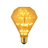 cheap -BRELONG® 1pc 3W 300 lm E26/E27 LED Globe Bulbs 47 leds SMD Starry Decorative Yellow 220-240V