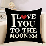 cheap -1 pcs Cotton/Linen Pillow Case Novelty Pillow Pillow Cover, Fashion Quotes & Sayings Novelty Simple Lovers