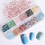 cheap -1pcs Nail Glitter Glitter Powder Sequins Elegant & Luxurious Nail Art Tips Nail Art Design