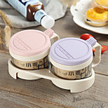 cheap -Plastics Creative Kitchen Gadget Shaker & Mill Kitchen Canisters 2pcs Kitchen Organization