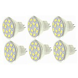 cheap -SENCART 6pcs 6W 450 lm G4 MR11 LED Spotlight MR11 12 leds SMD 5730 Decorative Warm White Cold White 12-24V