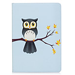 cheap -Case For Apple iPad 10.5 iPad (2017) Card Holder Wallet with Stand Pattern Auto Sleep/Wake Up Full Body Cases Owl Hard PU Leather for