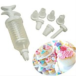 cheap -8pcs Creative For Pudding Ice Cream Cake For Cupcake For Cookie Plastic DIY Birthday Cake Molds