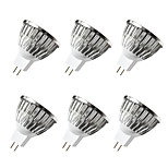 cheap -BRELONG® 6pcs 5W 500 lm MR16 LED Spotlight 4 leds Warm White White DC 12V