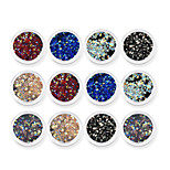 abordables -1 Bijoux à ongles Nail Glitter Diamant N/C Nail Art Design