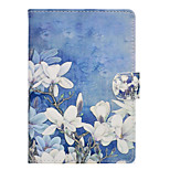 cheap -Case For Amazon Kindle Fire hd 7.0 Card Holder Shockproof with Stand Flip Auto Sleep/Wake Up Full Body Cases Flower Hard PU Leather for