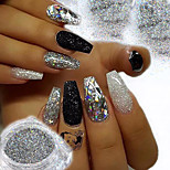 cheap -2pcs Glitter Powder Elegant & Luxurious Glitter & Sparkle Nail Art Tips Nail Art Design