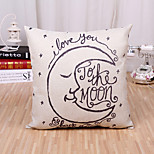 cheap -1 pcs Cotton/Linen Pillow Case Novelty Pillow Pillow Cover, Simple Fashion Classic Simple Classic Style