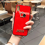 cheap -Case For Apple iPhone X iPhone 7 Plus Rhinestone Pattern Back Cover Solid Colored Soft Silicone for iPhone X iPhone 8 Plus iPhone 8