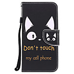 cheap -Case For Huawei P8 Lite (2017) P10 Plus Card Holder Wallet with Stand Flip Pattern Full Body Cases Cat Word / Phrase Hard PU Leather for