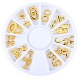 Недорогие -1 Гель для ногтей Пайетки металлический Стиль Сверкающий Своими руками Повседневные Дизайн ногтей
