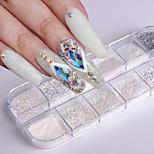 Недорогие -1 Гель для ногтей Порошок блеска порошок Элегантный и роскошный Блеск и блеск Советы для ногтей Дизайн ногтей
