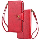 cheap -Case For Xiaomi Redmi 5 Redmi 5 Plus Card Holder Wallet Flip Magnetic Full Body Cases Solid Colored Hard Genuine Leather for Xiaomi Redmi
