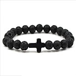 cheap -Men's Women's Chain Bracelet Volcanic Stone Natural Fashion Korean Stone Cross Circle Jewelry Birthday Daily Costume Jewelry