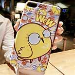 cheap -Case For Apple iPhone 6 Plus iPhone 7 Plus Pattern Embossed Back Cover Cartoon Soft Silicone for iPhone 8 Plus iPhone 8 iPhone 7 Plus