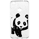 cheap -Case For Huawei P9 Lite P8 Lite Translucent Pattern Back Cover Panda Glitter Shine Cartoon Soft TPU for P10 Lite Huawei P9 Lite P8 Lite