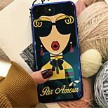 Недорогие -Кейс для Назначение Apple iPhone X iPhone 7 Plus С узором Кейс на заднюю панель Живопись Мягкий ТПУ для iPhone X iPhone 8 Pluss iPhone 8