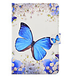 cheap -Case For Apple iPad mini 4 iPad Mini 3/2/1 Card Holder Shockproof with Stand Flip Auto Sleep/Wake Up Full Body Cases Butterfly Hard PU