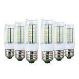 abordables -YWXLIGHT® 6pcs 6W 600-700 lm E26/E27 Ampoules Maïs LED 56 diodes électroluminescentes SMD 5730 Blanc Chaud Blanc Froid 110-130V 220-240V