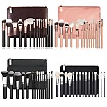 cheap -15pcs Powder Brush Eyeshadow Brush Blush Brush Makeup Brush Set Synthetic Hair Eco-friendly Professional Soft Wood Eye Face Eco-friendly