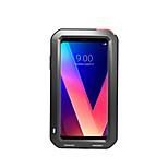 Недорогие -Кейс для Назначение LG V30 Вода / Грязь / Надежная защита от повреждений Чехол Сплошной цвет Твердый Металл для LG V30