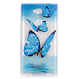 cheap -Case For Sony Xperia L2 Xperia XA2 Ultra Transparent Pattern Back Cover Butterfly Soft TPU for Xperia XA2 Xperia XA2 Ultra Xperia L2 Sony
