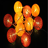 cheap -1.5m String Lights 10 LEDs Warm White Decorative AA Batteries Powered 1pc