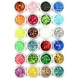 cheap -1pcs Glitter Powder Sequins Sparkle Nail Art Tips