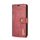 preiswerte -Hülle Für LG V30 V20 Kreditkartenfächer mit Halterung Flipbare Hülle Ganzkörper-Gehäuse Volltonfarbe Hart Echtleder für LG V30 LG V20