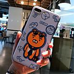 Недорогие -Кейс для Назначение Apple iPhone 6s iPhone 7 Plus С узором Кейс на заднюю панель Мультипликация Мягкий ТПУ для iPhone 8 Pluss iPhone 8