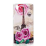 cheap -Case For Sony Xperia XA Xperia L1 Pattern Back Cover Eiffel Tower Soft TPU for Xperia XZ1 Compact Sony Xperia XZ1 Sony Xperia XA1 Sony