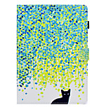 cheap -Case For Apple iPad 10.5 iPad (2017) Card Holder with Stand Flip Pattern Auto Sleep/Wake Up Full Body Cases Cat Hard PU Leather for iPad