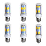 cheap -BRELONG® 6pcs 4W 400 lm E26/E27 LED Corn Lights 69 leds SMD 5730 Warm White White 200-240V