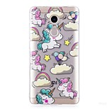 cheap -Case For Xiaomi Redmi Note 4X IMD Pattern Back Cover Unicorn Soft TPU for Xiaomi Redmi Note 4X
