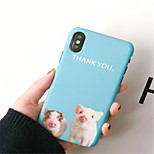 cheap -Case For Apple iPhone X iPhone 7 Plus Frosted Pattern Back Cover Cartoon Hard PC for iPhone X iPhone 8 Plus iPhone 8 iPhone 7 Plus iPhone