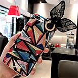 Недорогие -Кейс для Назначение Apple iPhone X iPhone 7 Plus С узором Кейс на заднюю панель Геометрический рисунок Мягкий ТПУ для iPhone X iPhone 8