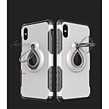 Недорогие -Кейс для Назначение Apple iPhone X iPhone 8 Защита от удара Кольца-держатели Кейс на заднюю панель броня Мягкий ТПУ для iPhone X iPhone 8