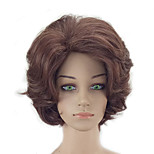 Недорогие -Парики из искусственных волос Kinky Curly Стрижка каскад Природные волосы плотность Без шапочки-основы Жен. Коричневый Парик из