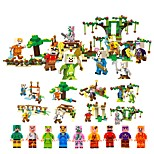 cheap -Building Blocks 478pcs Classic House Shaped Focus Toy Parent-Child Interaction Decompression Toys Floral Theme Toy All Toy Gift