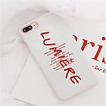economico -Custodia Per Apple iPhone X iPhone 7 Plus Fantasia/disegno Per retro Frasi famose Resistente PC per iPhone X iPhone 8 Plus iPhone 8