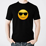 Недорогие -led t-shirts glow pure cotton led casual 2 × aa