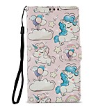 cheap -Case For Sony Xperia XZ1 Xperia L2 Card Holder Wallet with Stand Flip Magnetic Full Body Cases Unicorn Hard PU Leather for Xperia XA2