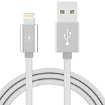 cheap -Lightning USB Cable Adapter Portable Quick Charge For iPhone 100 cm Plastics Nylon