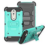 Недорогие -Кейс для Назначение ZTE Nubia Z17 mini Защита от удара со стендом Кейс на заднюю панель Сплошной цвет Твердый ПК для Grand