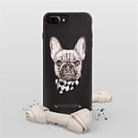 Недорогие -Кейс для Назначение Apple iPhone X iPhone 7 Plus С узором Кейс на заднюю панель С собакой Твердый Кожа PU для iPhone X iPhone 8 Pluss