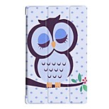 cheap -Case For BLU Kindle Fire hd 10(7th Generation, 2017 Release) with Stand Full Body Cases Geometric Pattern Owl Eiffel Tower Hard PU Leather