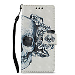 cheap -Case For Sony Xperia XZ1 Xperia XA1 Card Holder Wallet with Stand Flip Pattern Full Body Cases Skull Hard PU Leather for Sony Xperia XZ1