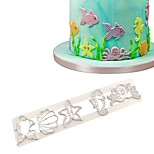 cheap -1pc Fish Birthday Ice Cream Cake For Cupcake For Cookie Plastic DIY Birthday Cookie Cutters Baking & Pastry Tools